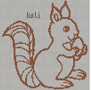 cross stitch squirrel