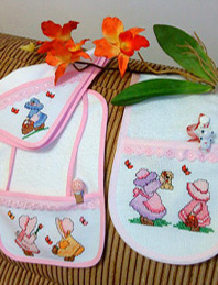 Sunbonnet potholder crochet pattern. - Crafts - Free Craft