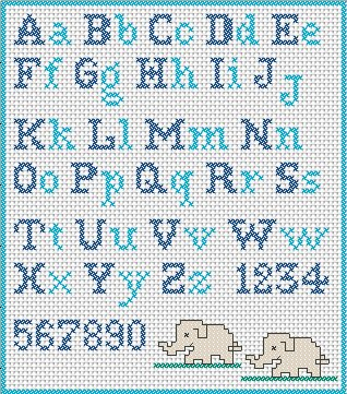 Alphabet - Online Cross Stitch Patterns -  www.Crosstitch.com