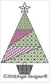 Free Cross Stitch Pattern: Starry Christmas Tree - Color Symbols