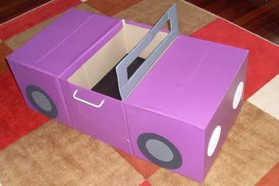 coche en carton