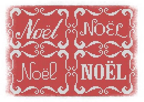 tarjetas navidad en punto de cruz