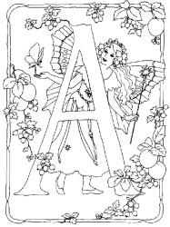 hadas con letras para bordar
