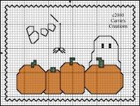 Patrones de Punto de Cruz de Halloween – Fantasmas