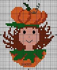 Calabazas a Punto de Cruz de Halloween