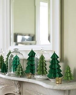 Como Hacer Arbolitos de Navidad con Cartulina o Papel