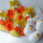 Coniglietto in Feltro per la Pasqua