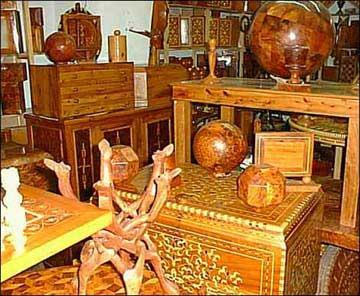 lavorazione del legno in Marocco