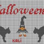 Schema Punto Croce Halloween