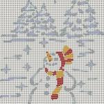 Omino di Neve a Punto Croce