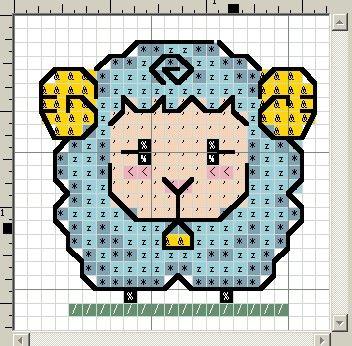 pecorella punto croce