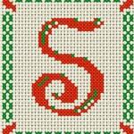 Alfabeto a Punto Croce – Lettera S