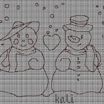 Omini di Neve a Punto Croce