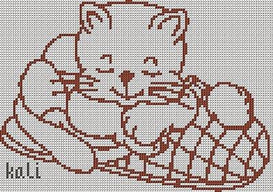 gatto punto croce