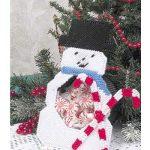 Omino di Neve in Plastic Canvas