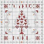 Cuscino Natalizio a Punto Croce – Albero di Natale Monocromatico