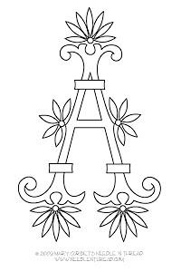 alfabeto da ricamare