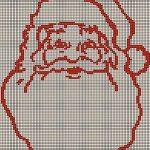 Babbo Natale da Ricamare a Punto Croce