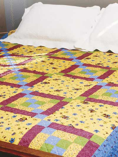 copriletto in patchwork