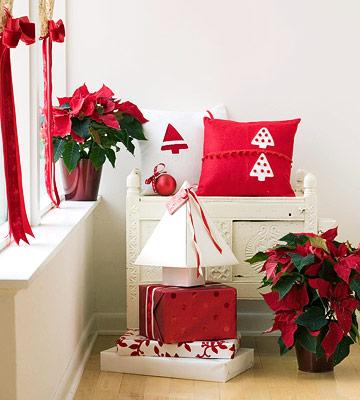 cuscino natalizio in feltro
