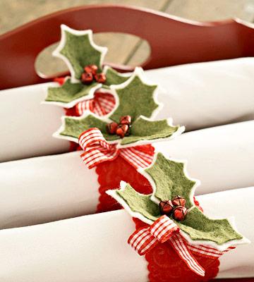 segnaposto natalizi in feltro
