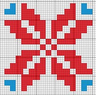 stella di natale fok a punto croce