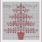 Ricama un Albero di Natale Stilizzato Monocolore