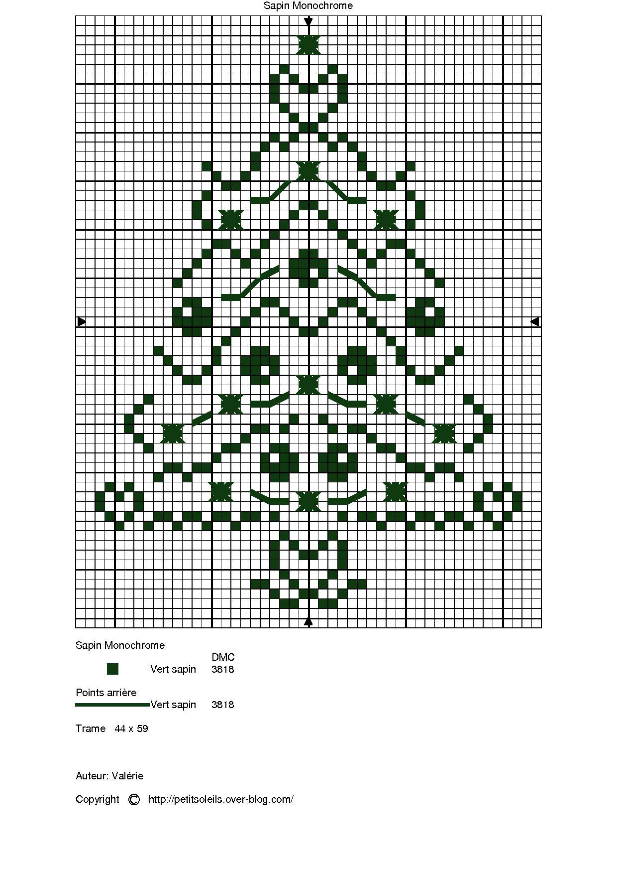 albero di natale stilizzato a punto croce