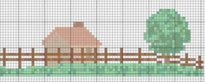 casa in campagna a punto croce