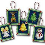 Decorazioni Natalizie a Punto Croce per Albero di Natale