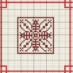 Motivo Geometrico Natalizio a Punto Croce