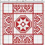 Motivo Geometrico Rosso a Punto Croce