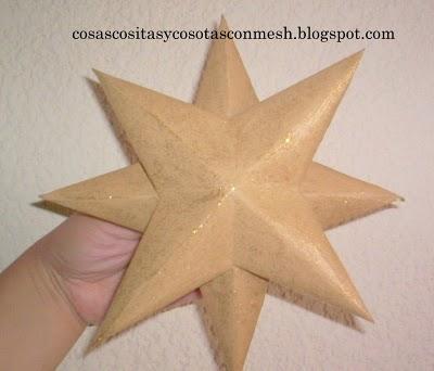 stella natalizia di carta
