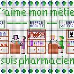 Punto Croce – Schema di Ricamo di una Farmacia