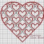 San Valentino – Cuore Stilizzato a Punto Croce