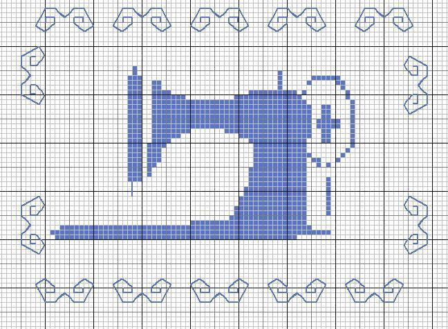 macchina da cucire a punto croce