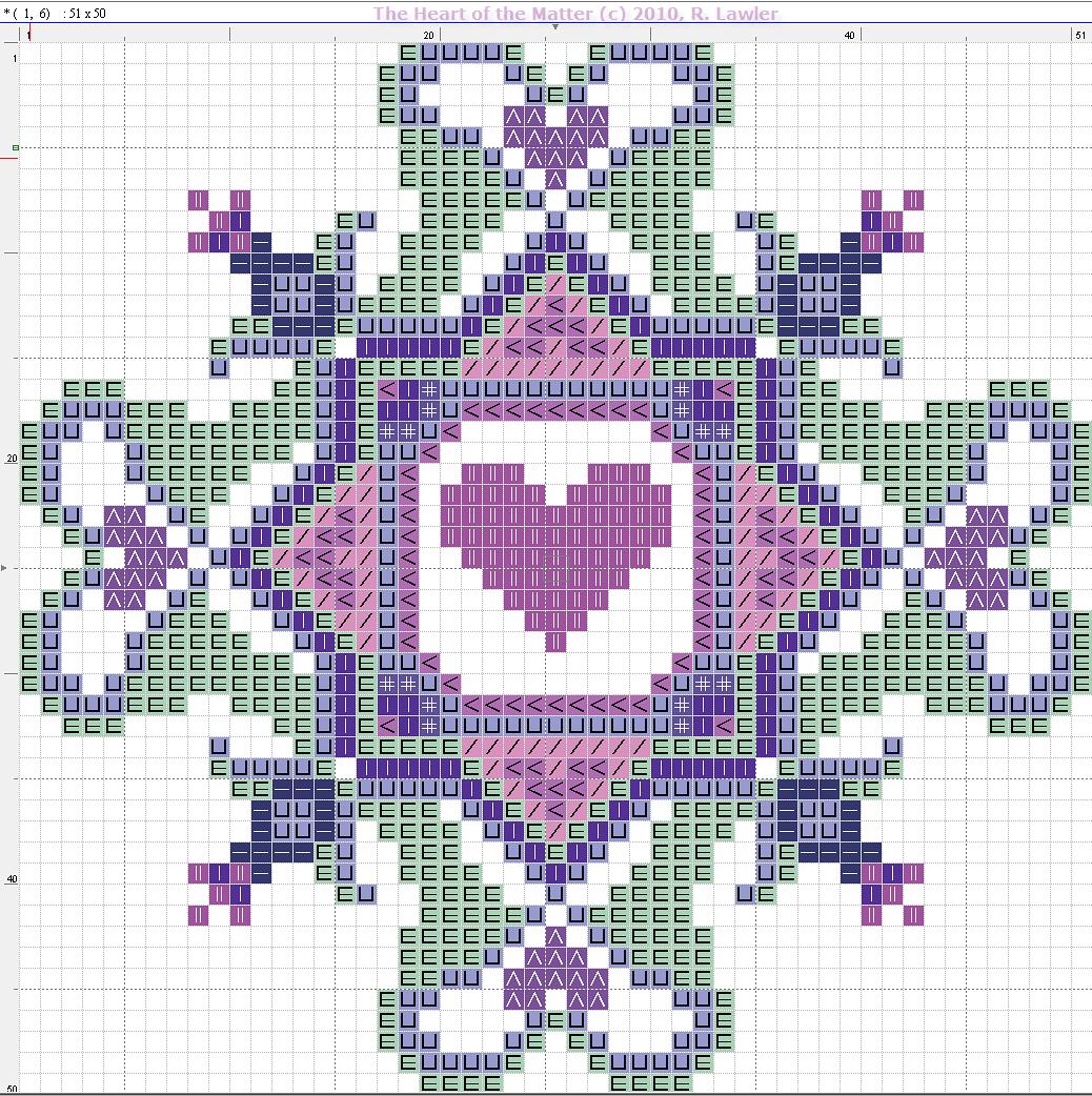 San valentino quadrati stilizzati con cuori a punto for Schemi gratis a punto croce