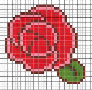 rose a punto croce