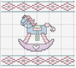 schema punto croce cavallino a dondolo