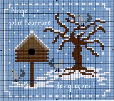 schema invernale a punto croce