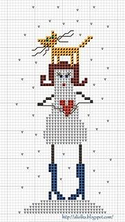 schema punto croce san valentino