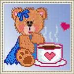 Punto Croce – Orsetto con Tazza per San Valentino
