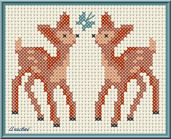 Punto croce per bambini cerbiatti arte del ricamo for Angioletti punto croce per bambini