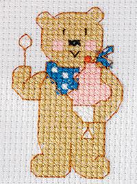 Schema di ricamo per bambini orsetto a punto croce for Immagini punto croce per bambini