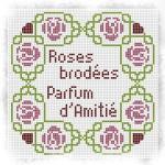 Punto Croce Schema di Ricamo – Centrotavola con Rose