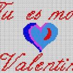Punto Croce – Schema di Ricamo San Valentino