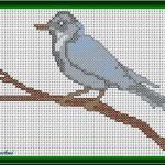 Schema a Punto Croce – Uccellino sul Rametto