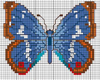 Schemi a punto croce farfalle arte del ricamo for Farfalle punto a croce