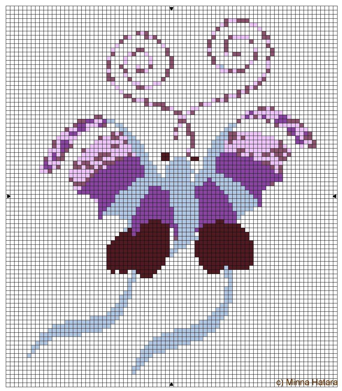 Schemi a punto croce farfalle arte del ricamo for Schemi punto croce fiori e farfalle