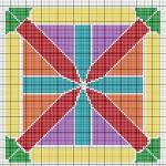 Schema a Punto Croce – Modulo Geometrico Colorato